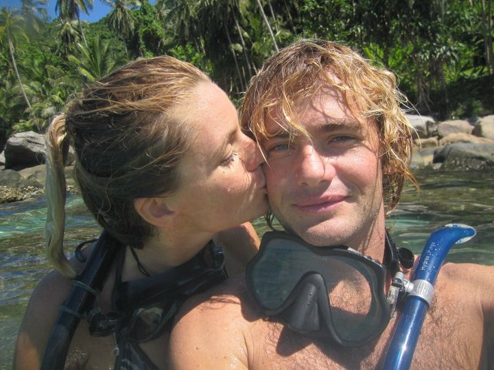 Alan diving with his wife, Mirka, in Malaysia – Alan Whitfield