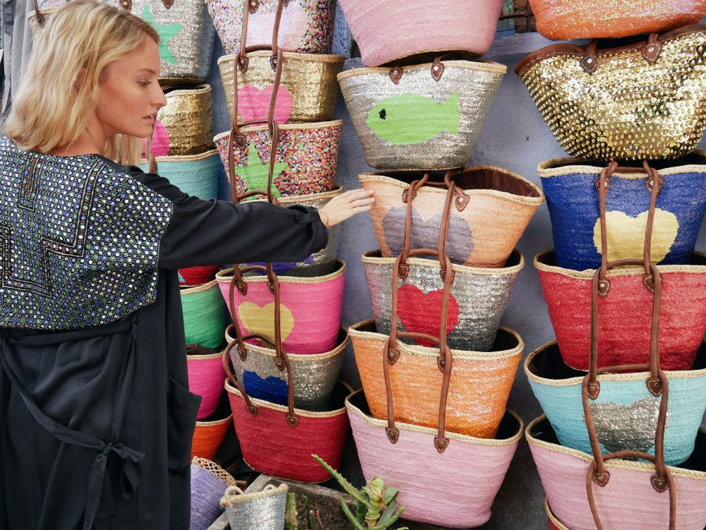 One of the local trades is manufacturing hand-woven baskets Chefchaouen in Morocco – Rachel Jones