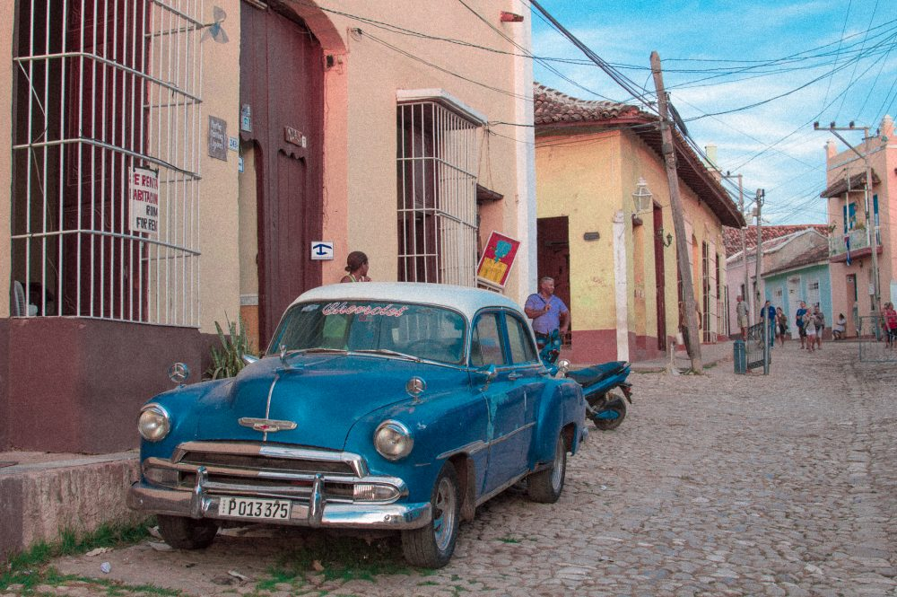 An old Chevy sits on the street in Trinidad, Cuba – Ben Finch