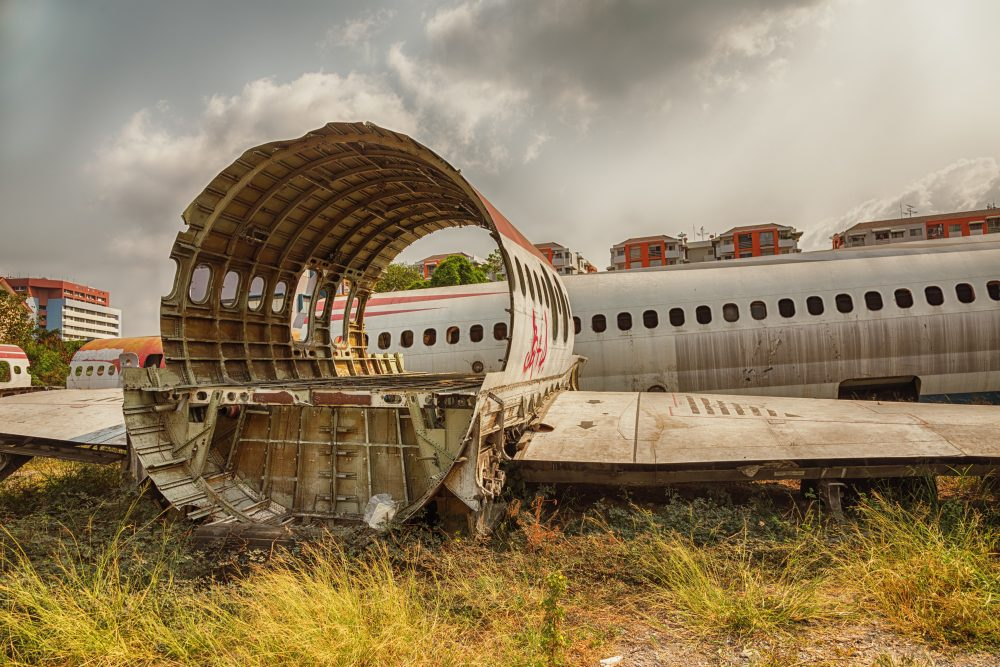 The abandoned hulks of three airliners are an odd attraction in Bangkok – Shutterstock