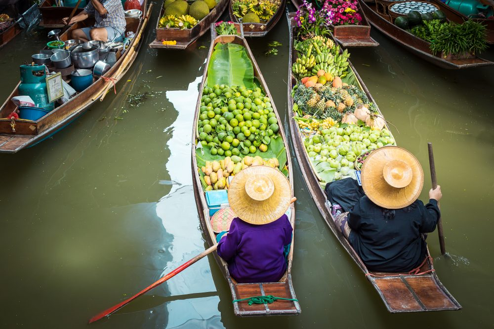 Ban Nam Phueng Floating Market was built to revive the local market culture in Bangkok – Shutterstock