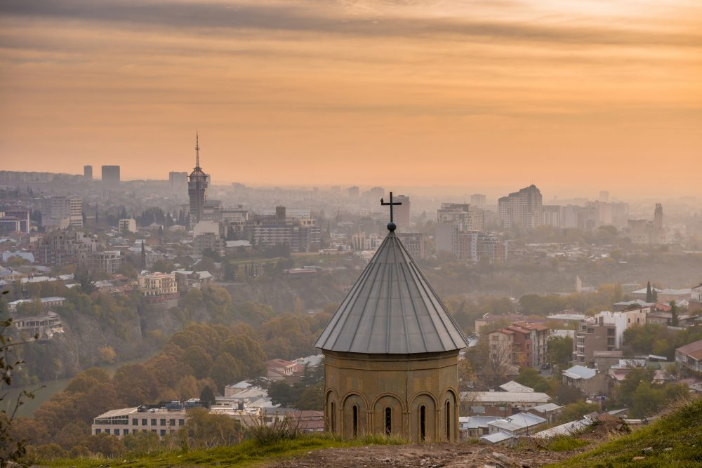 Narikala Fortress looks out over Tbilisi – Shutterstock